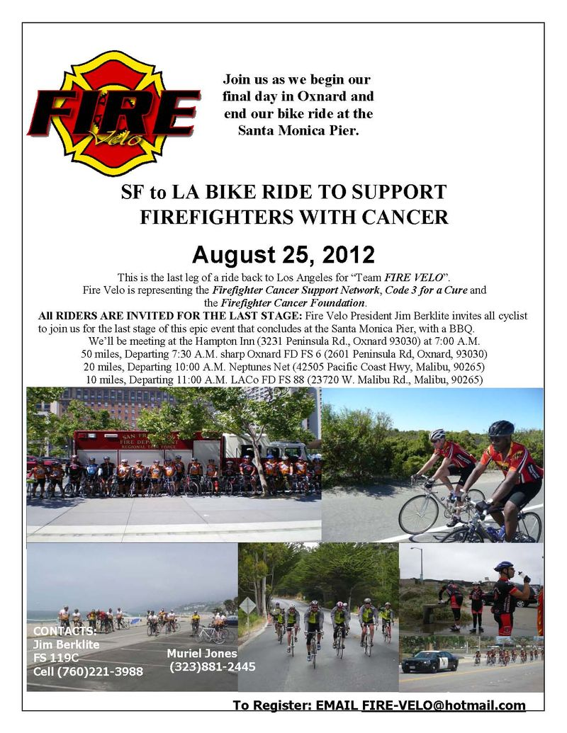 2012 SF to LA Finish Flier