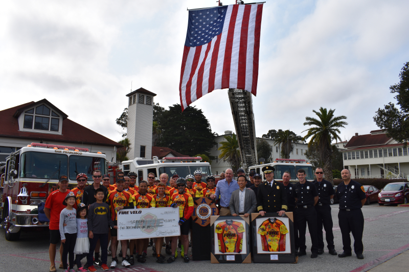 Check Presentation to San Francisco Firefighters Cancer Prevention Foundation