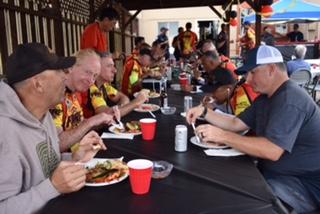 Dinner courtesy of Watsonville Firefighters