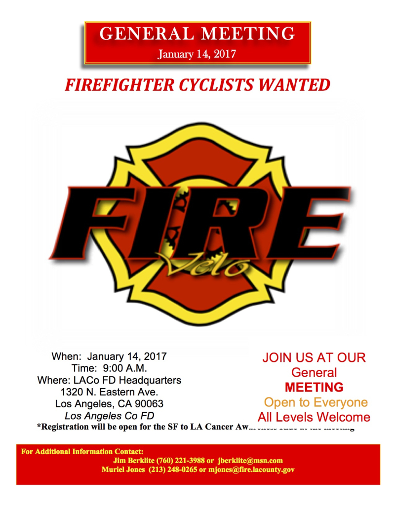 Fire Velo Annual Meeting Flier Jan 2017