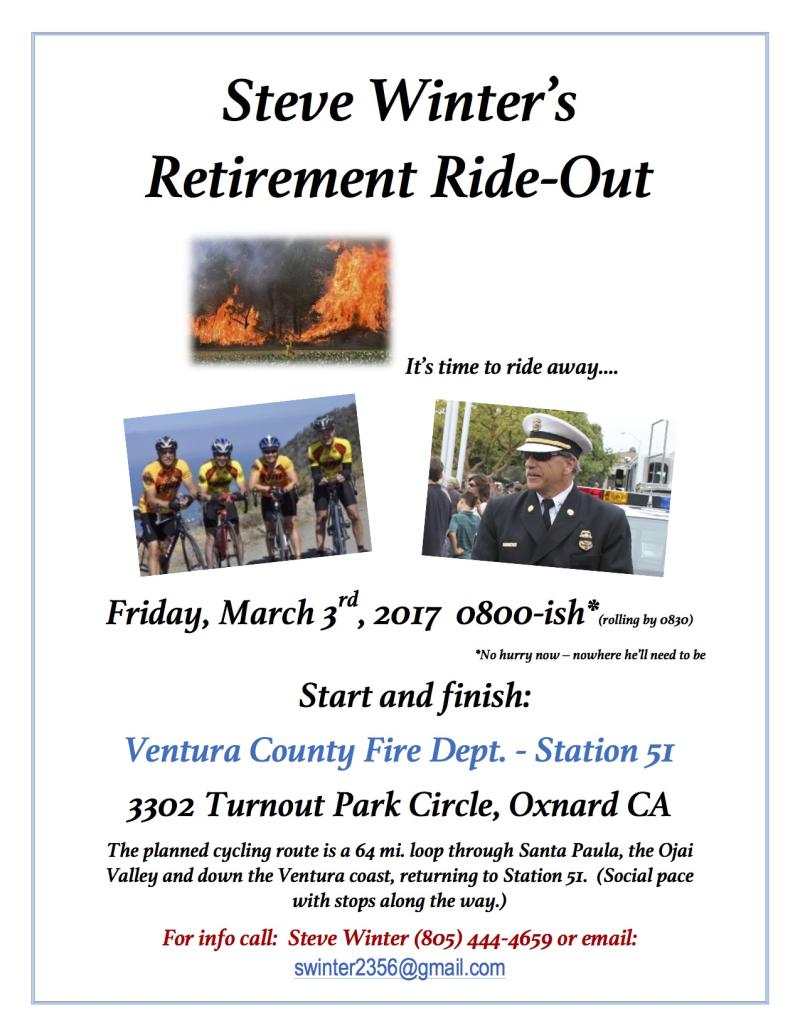 Steve Winter Ride Out Flyer