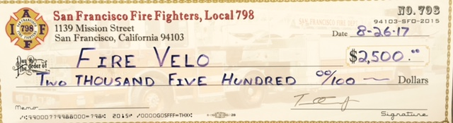 Donation from San Francisco Firefighters Union Local 798