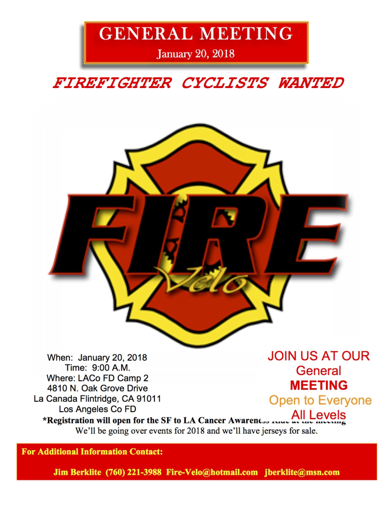 Fire Velo Annual Meeting Flier Jan 2018